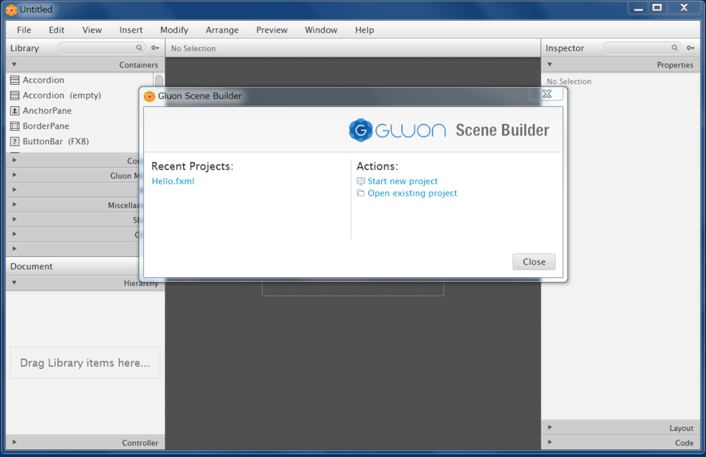 gluon scene builder executable jar