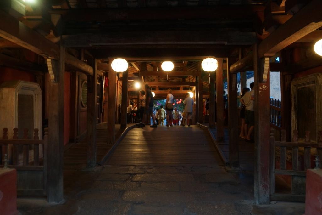 ホイアンの日本橋の入口