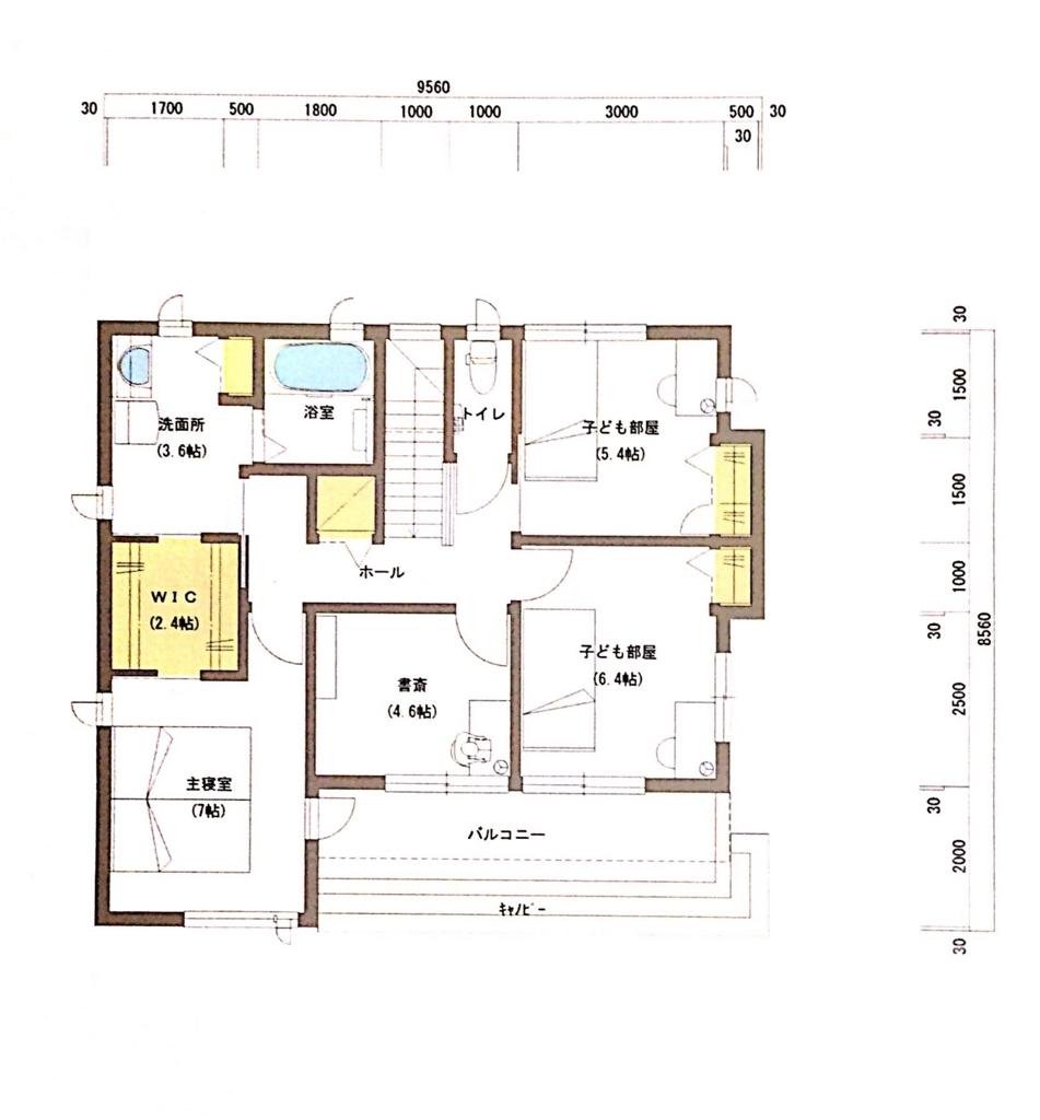 積水ハウス40坪2階間取り