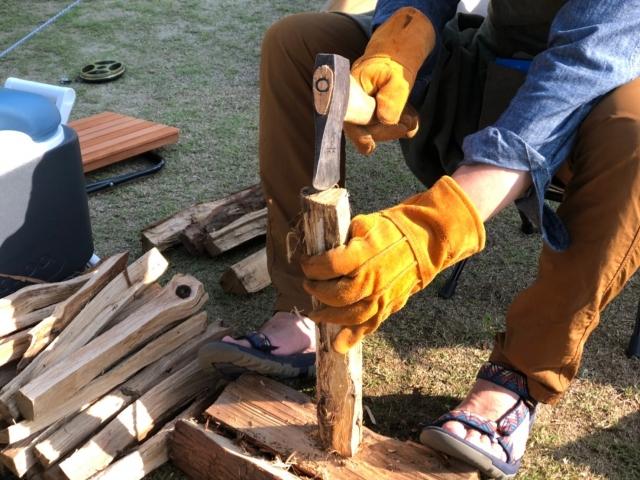 焚き火 ソロキャンプ 冬キャンプ 薪