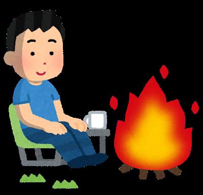 焚き火 ソロキャンプ スウェーデントーチ バイきんぐ西村