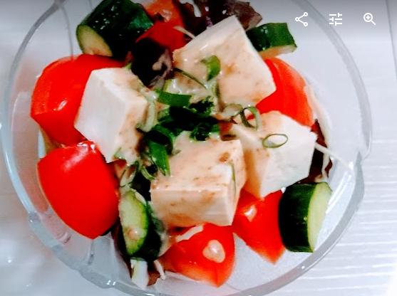 時短レシピ 簡単 サラダ 豆腐
