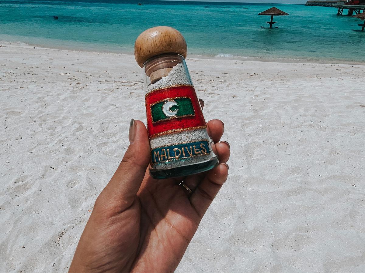 モルディブのガラス瓶