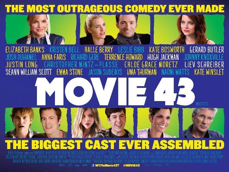 【映画】ムービー43は超豪華ハリウッド俳優が次々と登場するおすすめコメディ!あらすじやキャストなど徹底解説