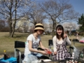 2010年4月10日常願寺川公園にてお花見バーベキュー