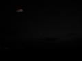三日月と金星がみえる