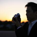 カメラ男子 ポートレート シルエット