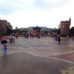 ディズニーハロウィン雨のシンデレラ城