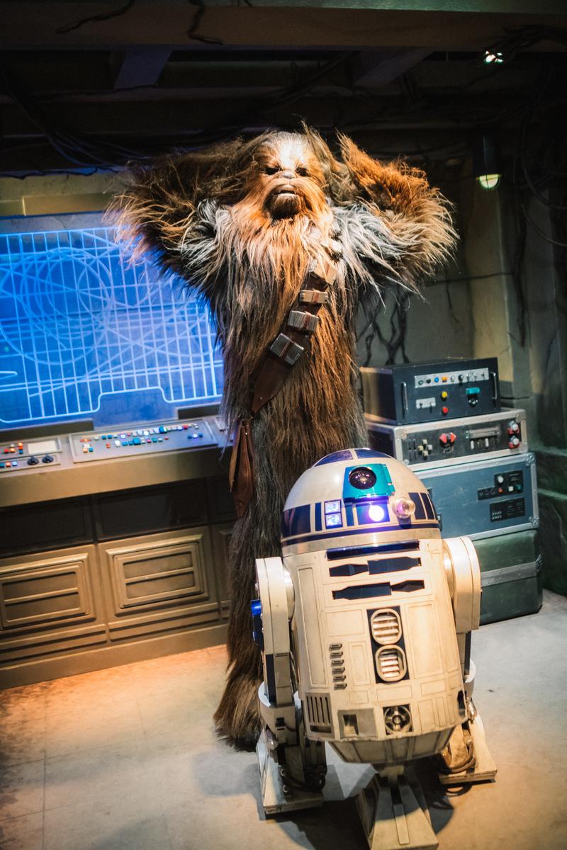 香港ディズニーランド チューバッカ R2-D2