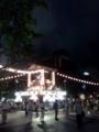 大通公園で盆踊りやってる