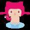 githubのマスコットキャラの色を塗り直して、ぎぎねこっぽくしてみた