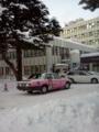 北大病院にエヴァタクシーが