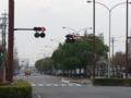 青黄赤の信号に比べて矢印の信号がでかい @ 四日市