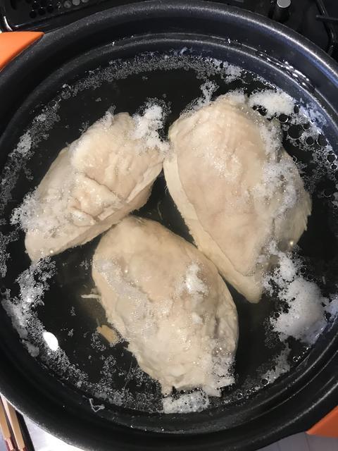 ゆで鶏余熱で放置