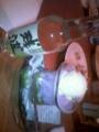紅芋のプリンとお土産の泡盛♪