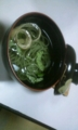 晩御飯続き、ヨモギ素麺のおすまし