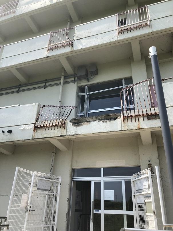 東北大震災の遺構である仙台市にある荒浜小学校です。