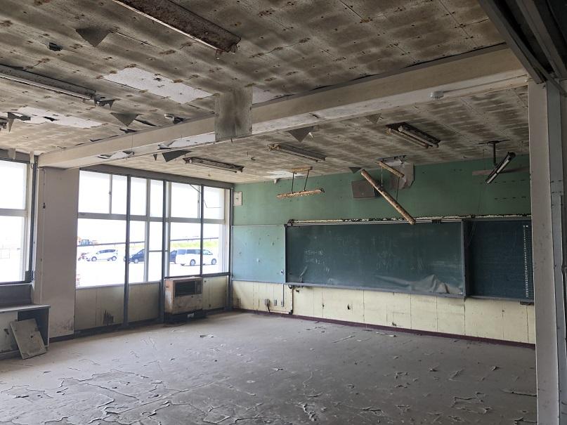 東北大震災の遺構である荒浜小学校です。