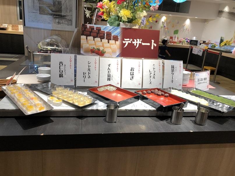 大江戸温泉の幸雲閣さんのバイキングのデザートは充実していました。