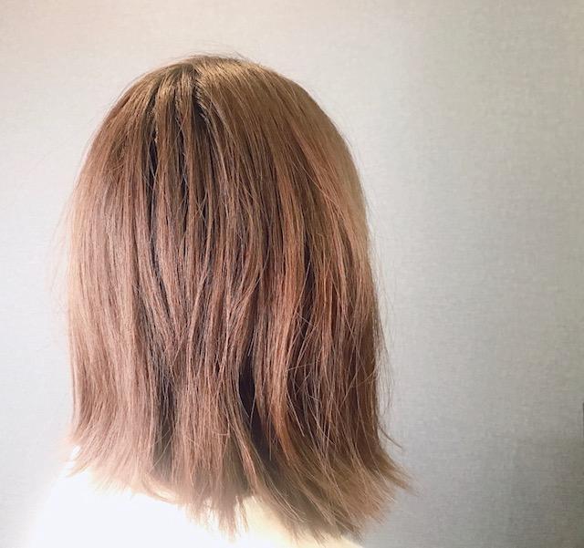 髪の毛ビフォー