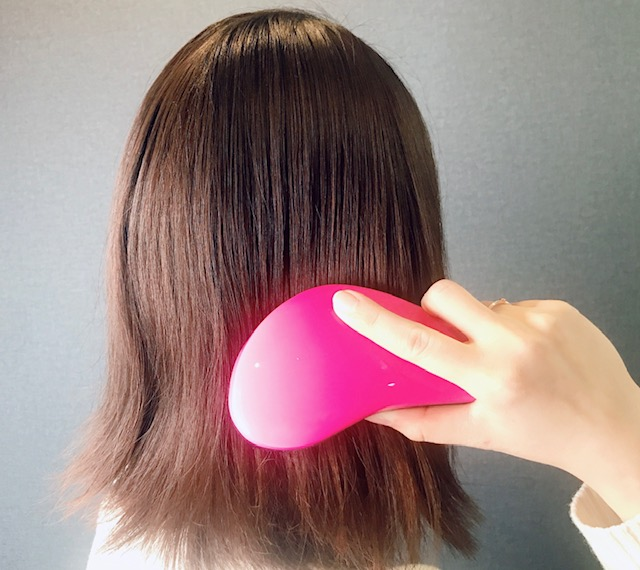 髪の毛使用中