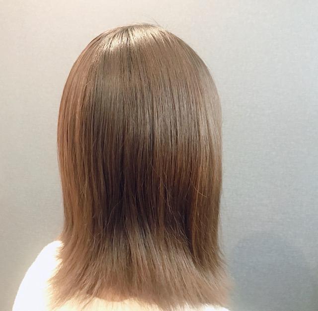 髪の毛アフター