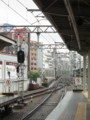 [駅][阪急][線路][鉄道信号]三宮_梅田方のスイッチ