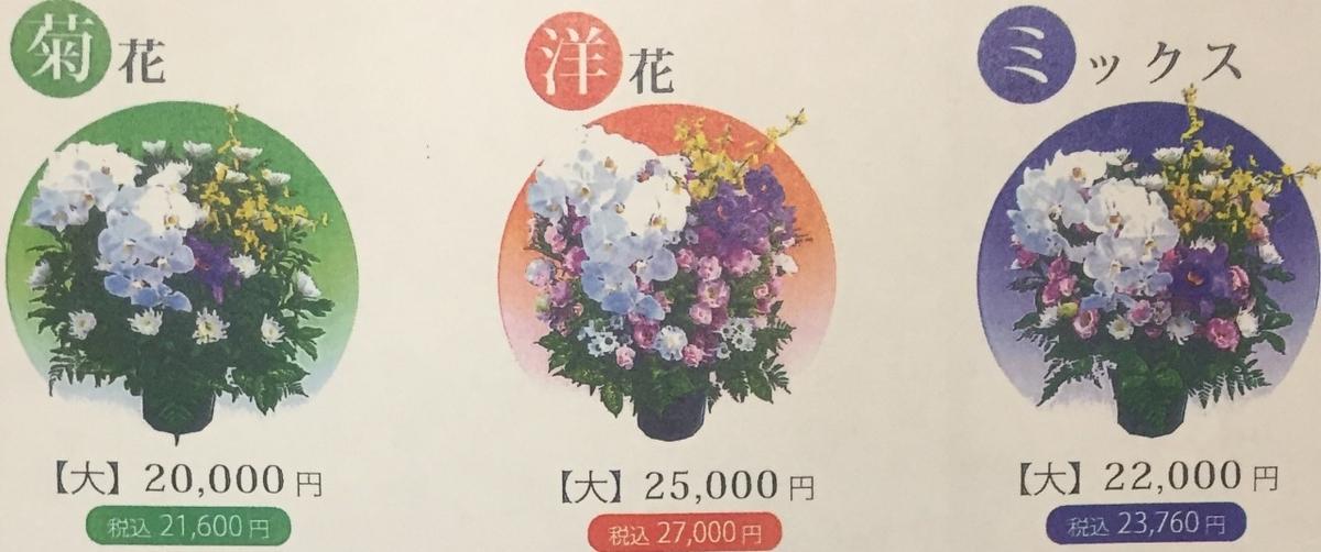 葬儀の生花の具体例