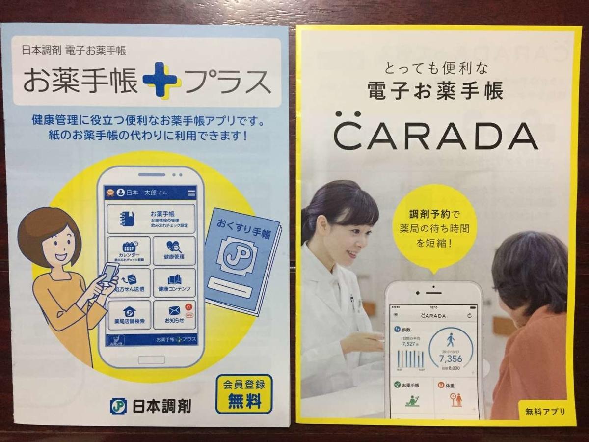 電子お薬手帳の紹介パンフレット