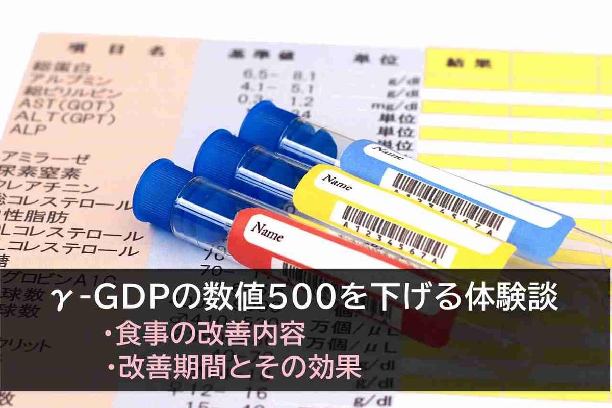 お酒・食事の改善でγ-GDPの数値を下げた体験談
