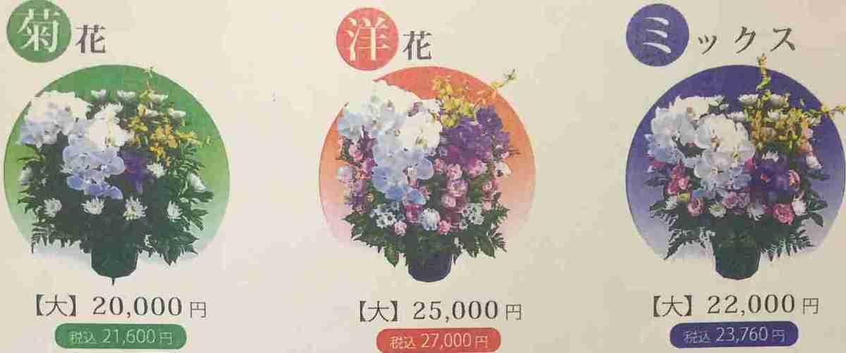 生花の費用