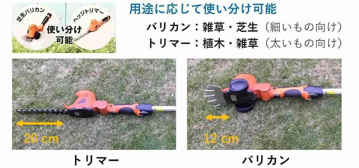 おすすめ電動バリカンのヘッド機能2種