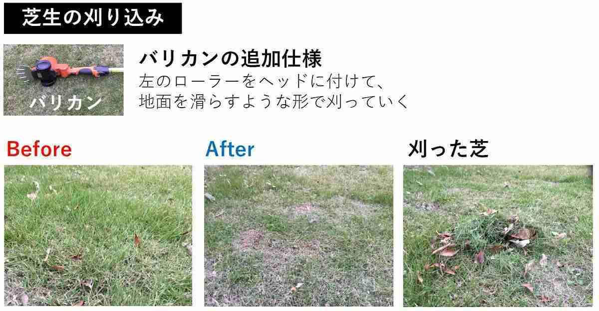 おすすめ電動バリカンの芝生の刈り込み事例