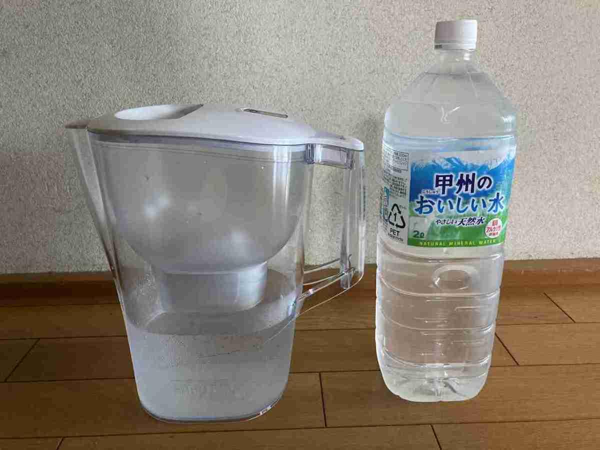 Brita据え置き型浄水器の大きさ(長さ)