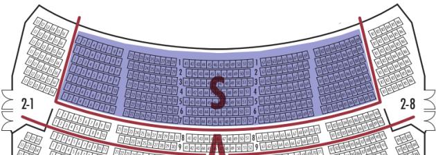 座席表S席2F