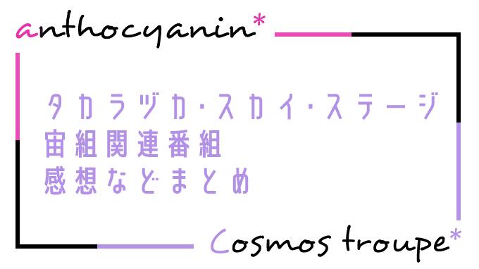 タカラヅカ・スカイ・ステージ宙組関連