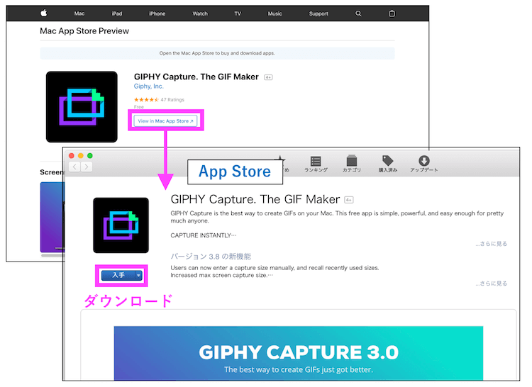 GIPHYインストール方法