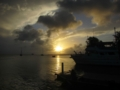 The sunset lagoon view from Shoreline in Majuro, Marshall Islands
