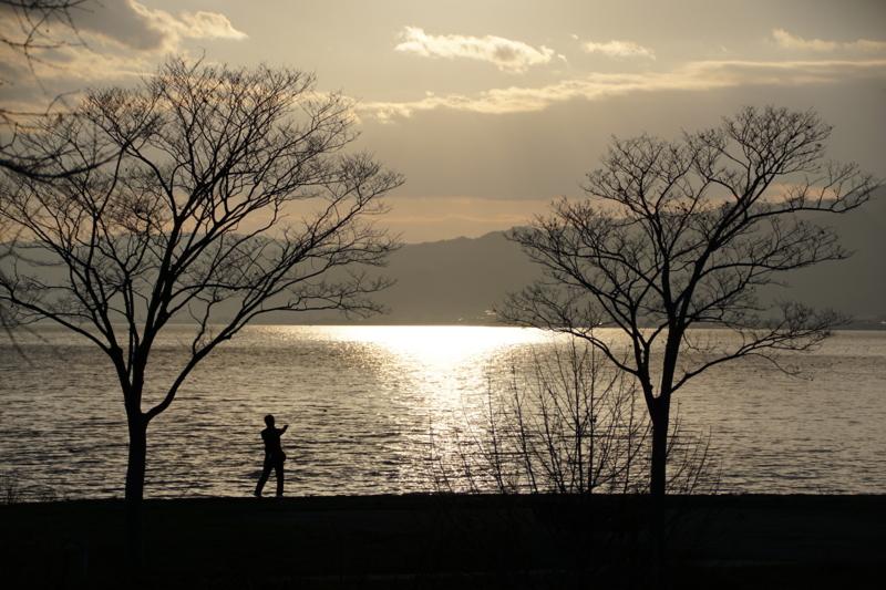 京都新聞写真コンテスト 夕陽のフィッシャーマン