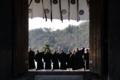 京都新聞写真コンテスト 僧侶の応援隊