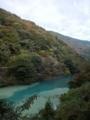 丹沢湖と玄倉川の水が合流