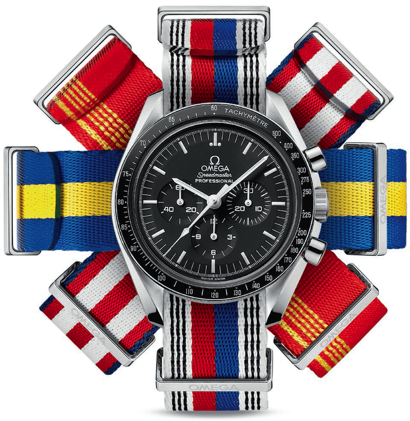 omega nato strap national flag color