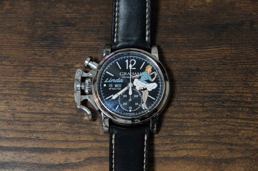 Graham Chronofighter Vintage Noseart Linda
