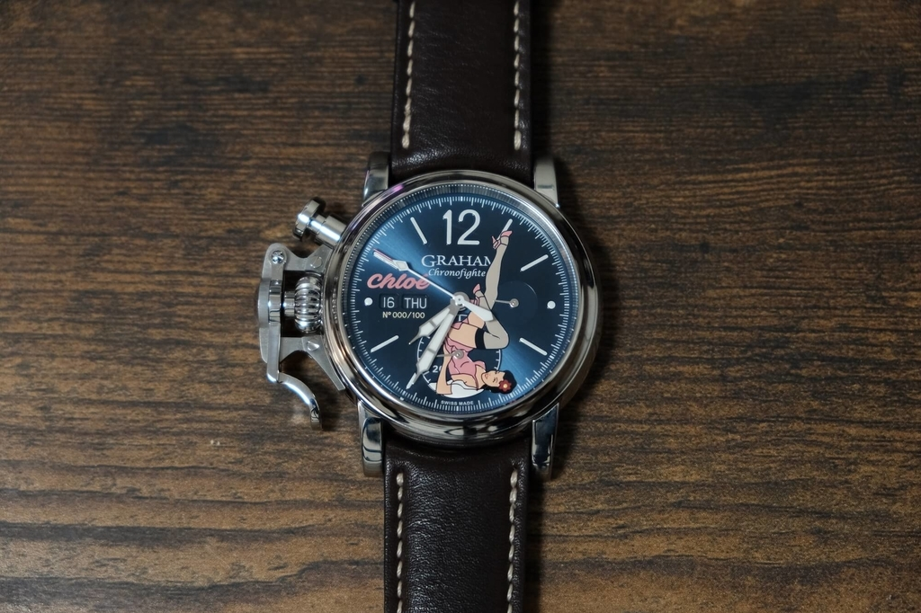 Graham Chronofighter Vintage Noseart Chloe