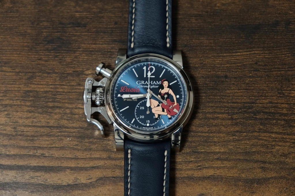 Graham Chronofighter Vintage Noseart Lucia