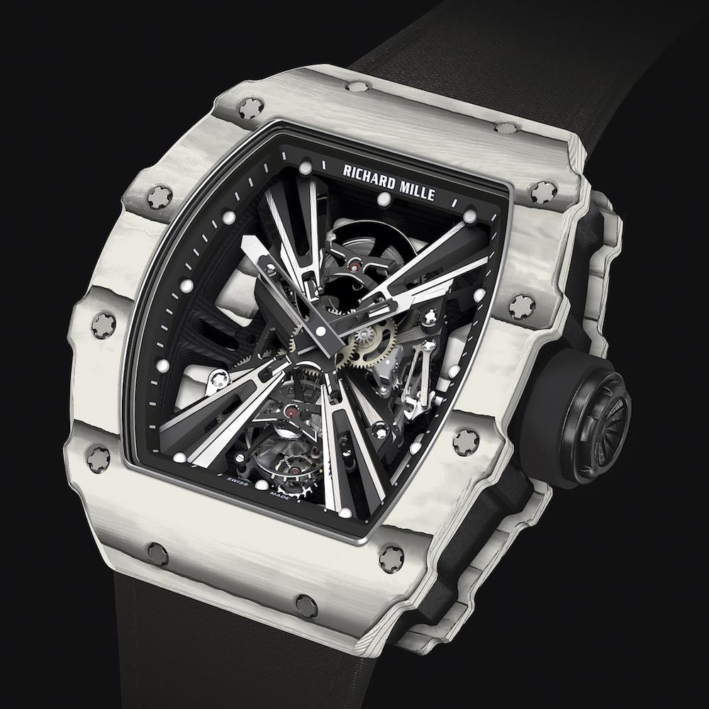 リシャール・ミル RM12-01 トゥールビヨン カーボンとホワイトクォーツTPT®
