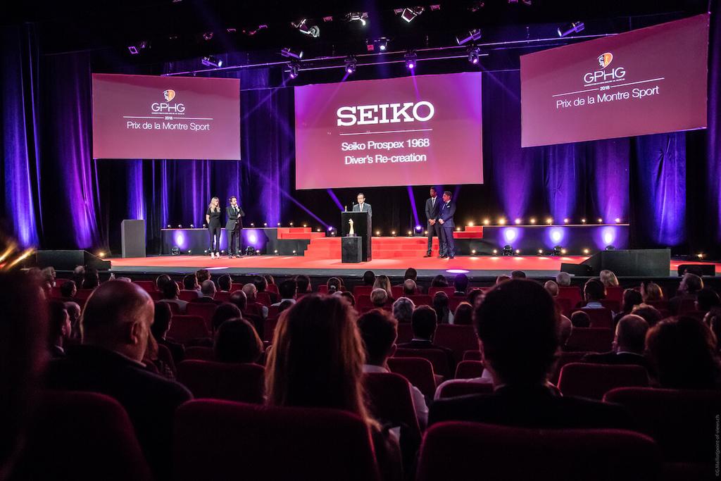 GPHGでセイコーが受賞した際の会場写真