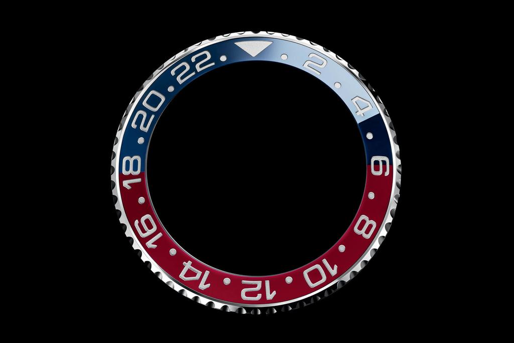 ロレックス GMTマスターII 126710BLROのベゼル