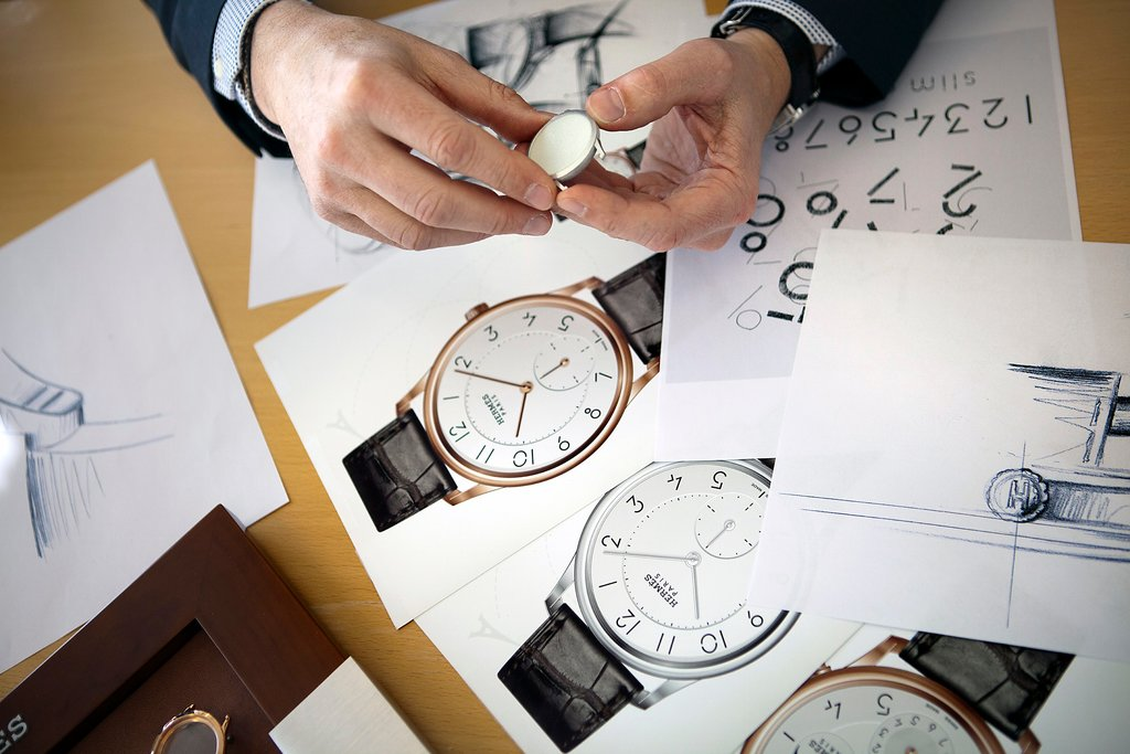 腕時計のフォントデザイン