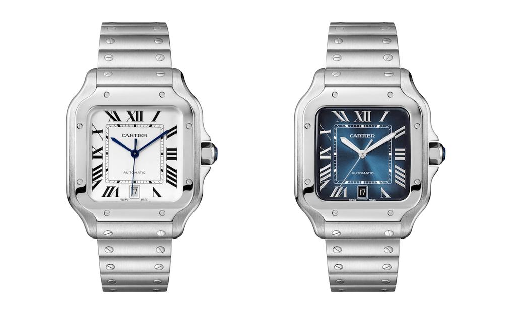 Cartier Santos White dial and Blue dial